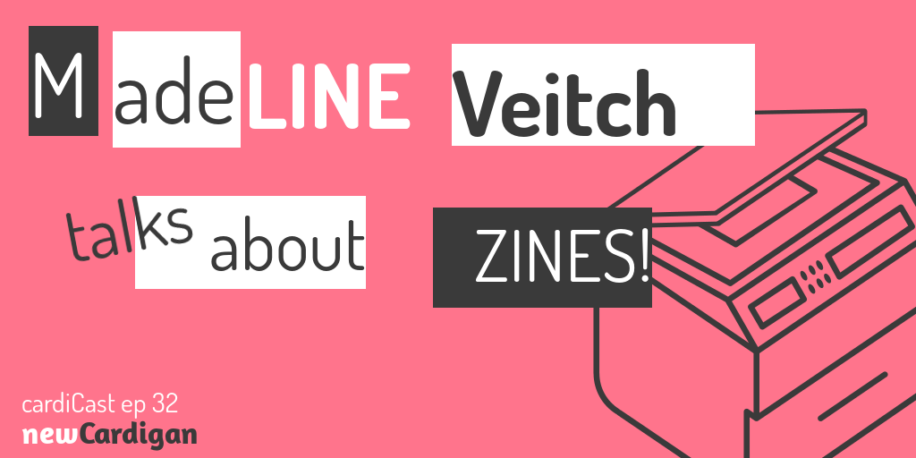 'Madeline Veitch talks about zines' paste-up style, with a picture of a photocopier