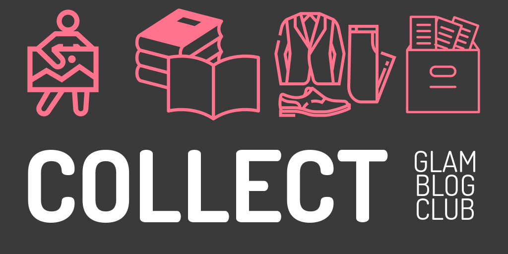 COLLECT with an image of a person with art, books, clothes and a box with papers