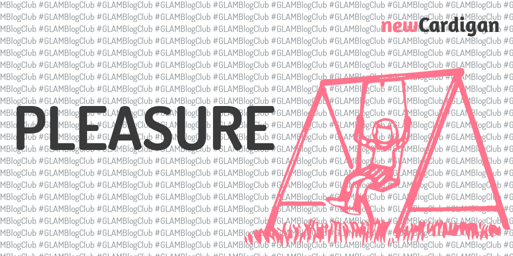 Word 'Pleasure' with a picture of a girl on a swingset